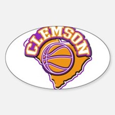 Clemson Basketball Oval Decal