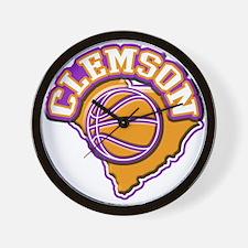 Clemson Basketball Wall Clock