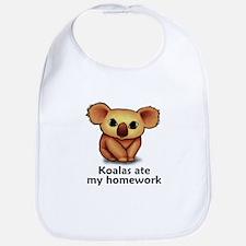 Koalas ate my homework Bib