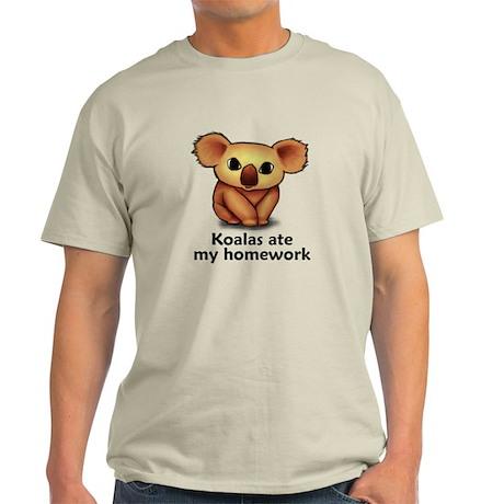 Koalas ate my homework Light T-Shirt