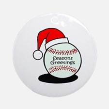 Baseball Greetings Ornament (Round)