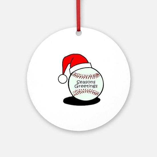 Baseball Greetings Ornament (Round)