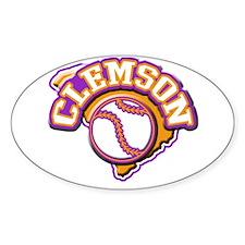 Clemson Baseball Oval Decal