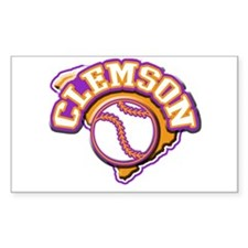 Clemson Baseball Rectangle Decal