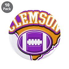 """Clemson Football 3.5"""" Button (10 pack)"""