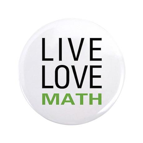 "Live Love Math 3.5"" Button (100 pack)"