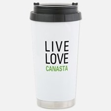 Live Love Canasta Stainless Steel Travel Mug