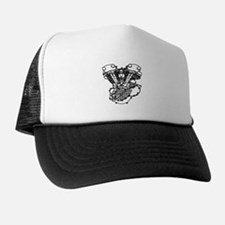 Black design on Hat