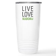 Live Love Sudoku Travel Mug