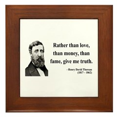Henry David Thoreau 37 Framed Tile