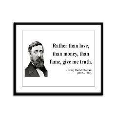 Henry David Thoreau 37 Framed Panel Print