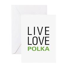 Live Love Polka Greeting Card