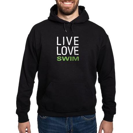 Live Love Swim Hoodie (dark)