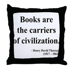 Henry David Thoreau 35 Throw Pillow