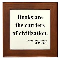Henry David Thoreau 35 Framed Tile