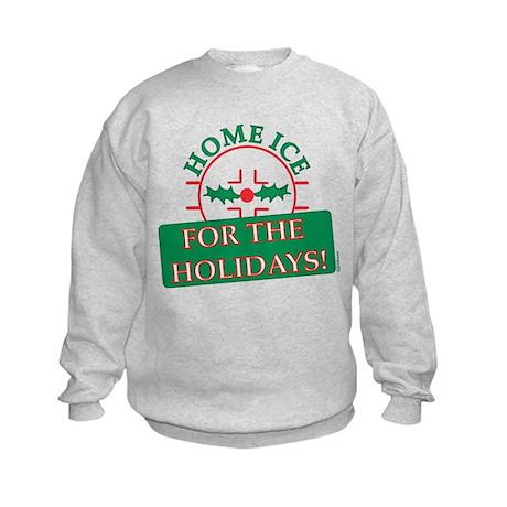 home ice holiday Kids Sweatshirt