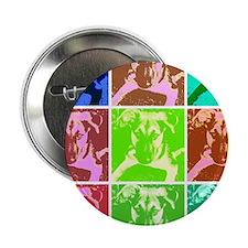 "German Shepherd Puppy Pop Art 2.25"" Button"