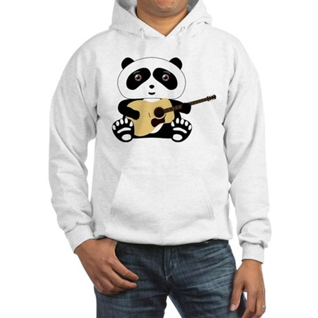 Panda Bear Guitar Hooded Sweatshirt