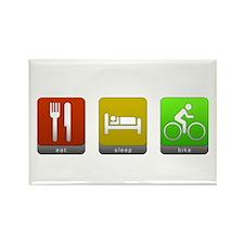 Eat, Sleep, Bike Rectangle Magnet