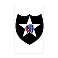 2nd Infantry Division Rectangle Decal