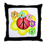 Super Peace Blossom Throw Pillow