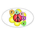 Super Peace Blossom Oval Sticker