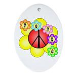 Super Peace Blossom Oval Ornament
