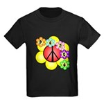 Super Peace Blossom Kids Dark T-Shirt