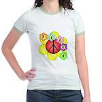 Super Peace Blossom Jr. Ringer T-Shirt