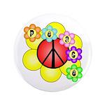 """Super Peace Blossom 3.5"""" Button"""