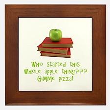 Teacher's Apple Framed Tile
