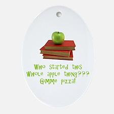 Teacher's Apple Oval Ornament