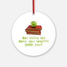 Teacher's Apple Ornament (Round)