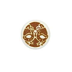 Distressed Tribal Bird Graphi Mini Button (100 pac