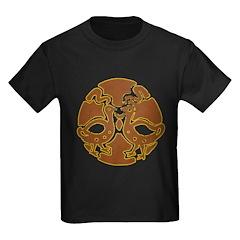 Distressed Tribal Bird Graphi Kids Dark T-Shirt