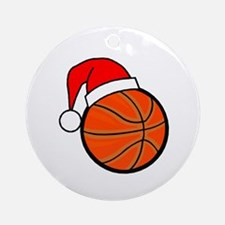 Basketball Greetings Ornament (Round)