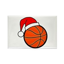 Basketball Greetings Rectangle Magnet