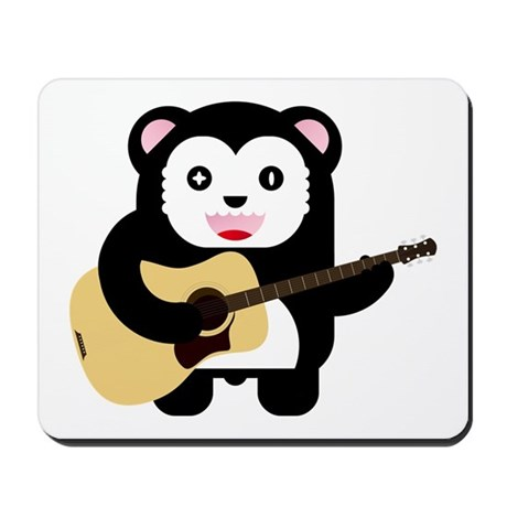 Kawaii Bear Guitar Mousepad
