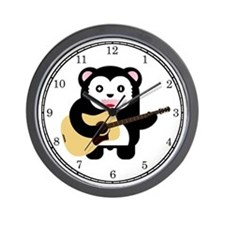 Kawaii Bear Guitar Wall Clock