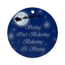 Believe In Chistmas Ornament (Round)