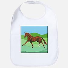 Funny Hanoverian horse Bib