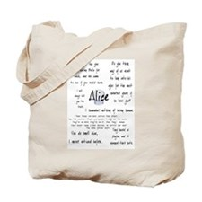 Alice Quotes Tote Bag
