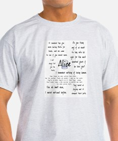 Alice Quotes T-Shirt