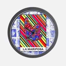 La Mariposa 2 Wall Clock