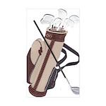 Golf Rectangle Sticker 10 pk)