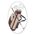 Golf Oval Sticker