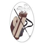 Golf Oval Sticker (10 pk)