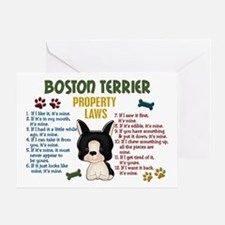 Boston Terrier Property Laws 4 Greeting Card