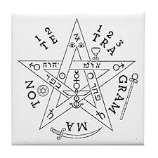 Tetragrammaton Tile Coaster