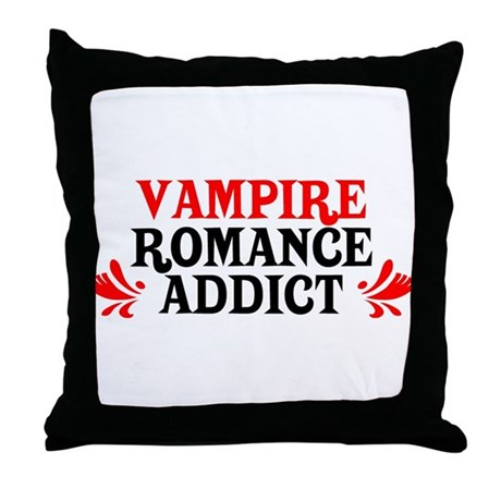 Vampire Romance Addict Throw Pillow